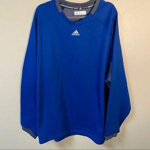 Adidas Men's Sweatshirt Blue Size 3XL Like New